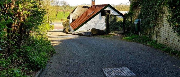 De Beekmansdalseweg in Ubbergen bij Nijmegen