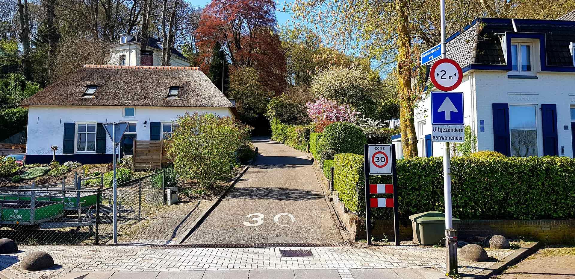 Opgang van de Beekmansdalseweg in Ubbergen bij Nijmegen