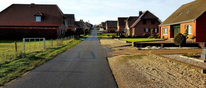 De Bergstrasse in Schottheide bij Nijmegen