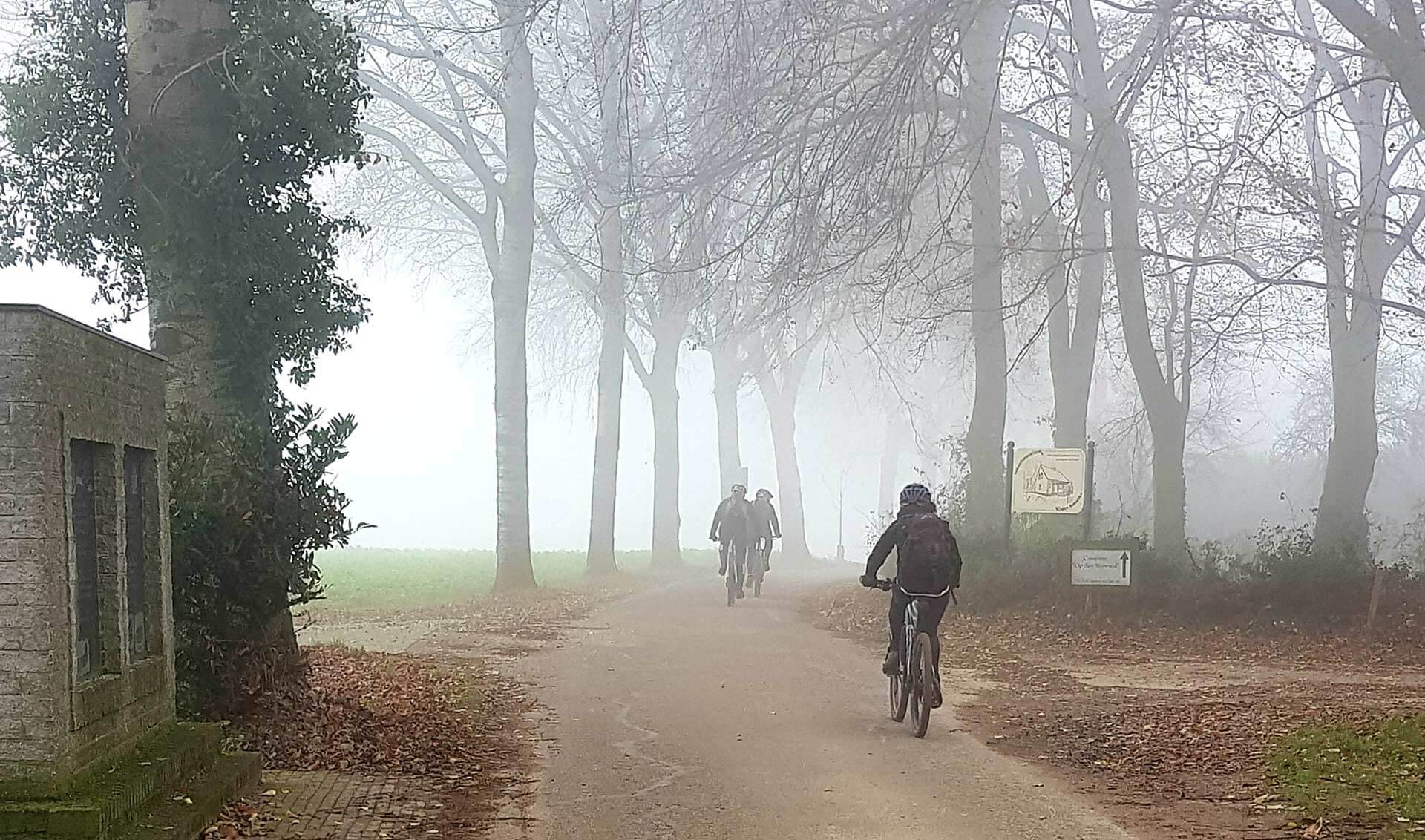 Mountainbikes in Klein Amerika, vlakbij Groesbeek