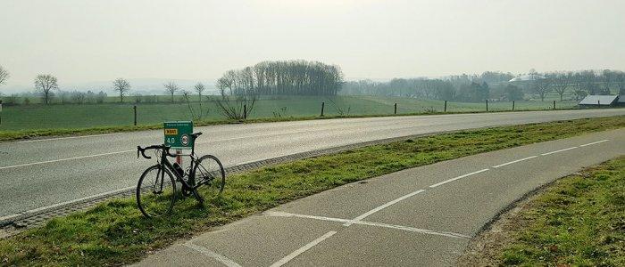 Halverwege de Zevenheuvelenweg bij Groesbeek
