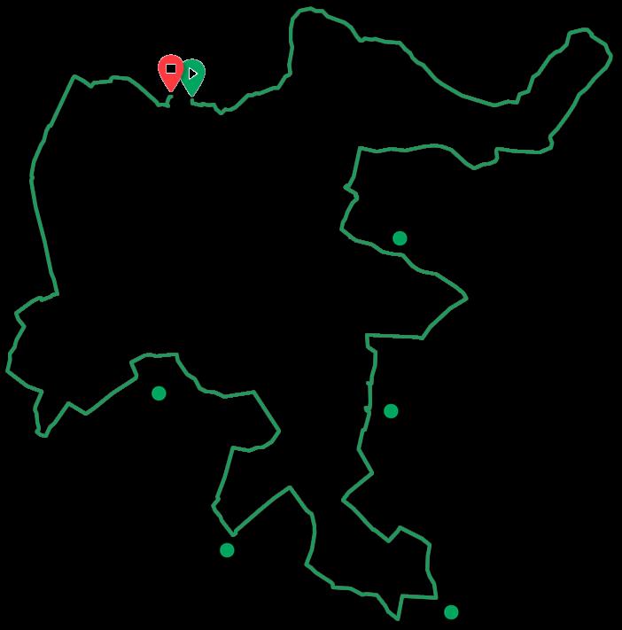 Routekaart Best of Nijmegen